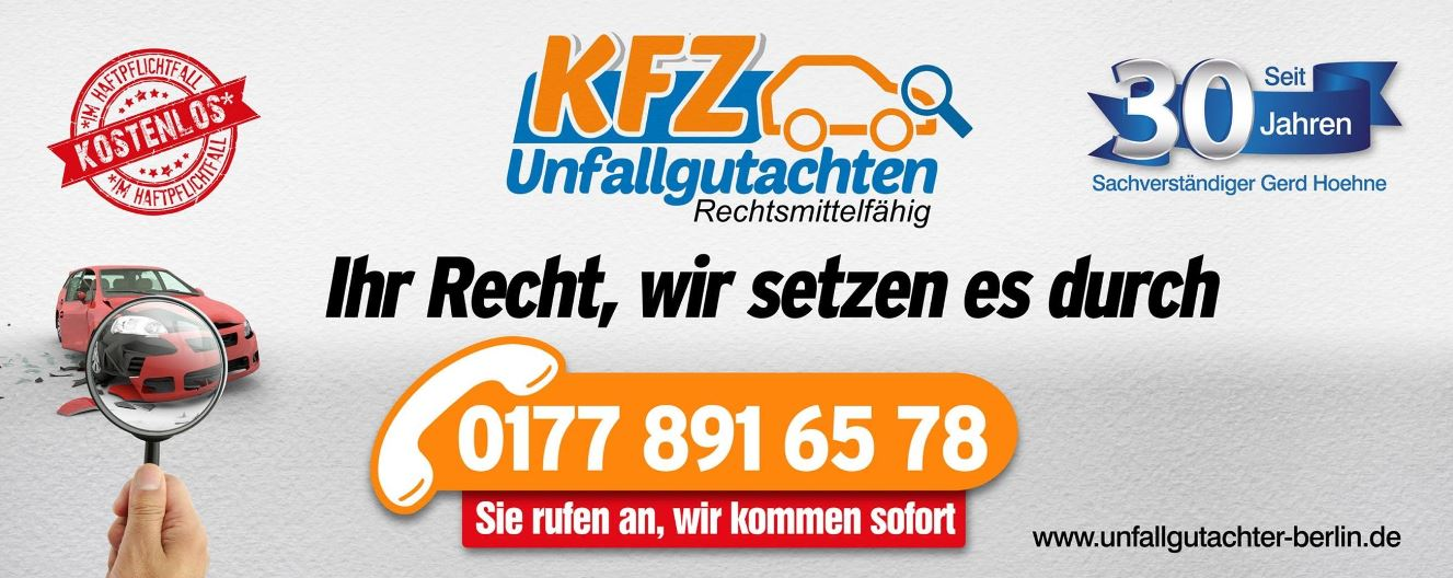 kfz gutachter berlin tipps bei verkehrsunfall. Black Bedroom Furniture Sets. Home Design Ideas